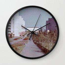 Pobedy Avenue in Amursk (1985) Wall Clock