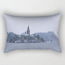Misty Bled Lake Rectangular Pillow