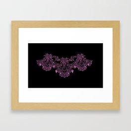 Vintage Lace Hankies Black and Bodacious Framed Art Print