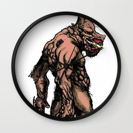 The Big Bad Pig Man Wall Clock