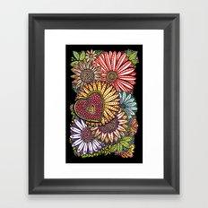I Love Flowers Framed Art Print