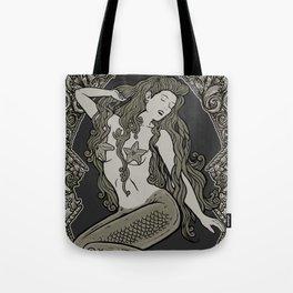 Neo Classic Mermaid Siren Sepia Tote Bag