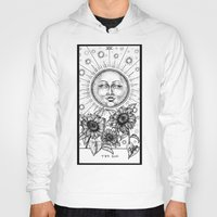 tarot Hoodies featuring Sun Tarot by Corinne Elyse