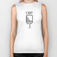chef Biker Tanks featuring Chef by HebeTees