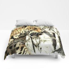 tree branch african safari animal leopard Comforters