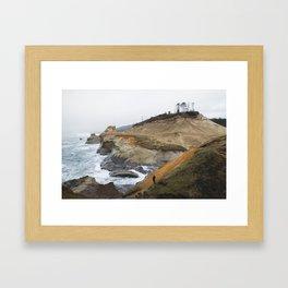 Cliffs of Cape Kiwanda Framed Art Print
