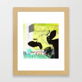 MUH...bunte Kuh Framed Art Print