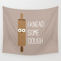 bread Wall Tapestries featuring Short Bread by David Olenick