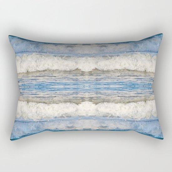 Abstract Waves splashing off the Queensland coast, Australia kaleidoscope Rectangular Pillow
