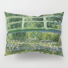 Water Lilies and Japanese Footbridge, Claude Monet Pillow Sham