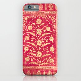 Oriental Rouge Floral iPhone Case