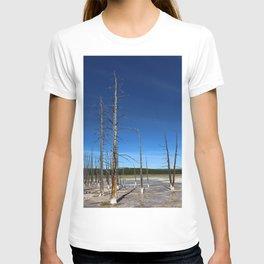 Lodgepole Pines In Geyser Basin T-shirt