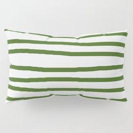 Simply Drawn Stripes in Jungle Green Pillow Sham