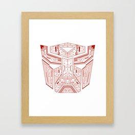 Autobot Tech Red Framed Art Print