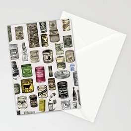 Vintage Victorian food cans Stationery Cards