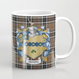 Thompson Crest and Tartan Coffee Mug