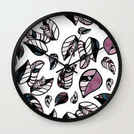 leaves winter vector seamless pattern Wall Clock