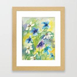 Happy flowers print 2 Framed Art Print