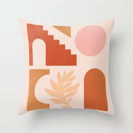 Abstraction_SHAPES_Architecture_Minimalism_002 Throw Pillow
