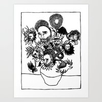 van gogh Art Prints featuring Van Gogh by AlphaVariable