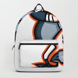 Hammerhead Ice Hockey Player Mascot Backpack