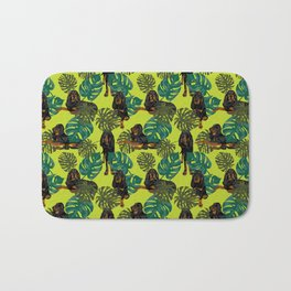 Tropical Black and Tan Coonhounds 2 Bath Mat