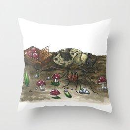 Little Worlds: The Harvest Throw Pillow