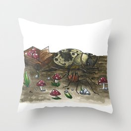 Little Worlds: The Harvest Throw Pillow