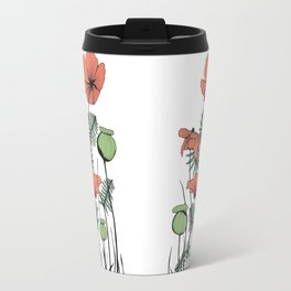 Poppies in Color Travel Mug