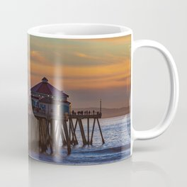 The Pier at Sunset Coffee Mug