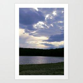 Walden Pond at Dusk Art Print