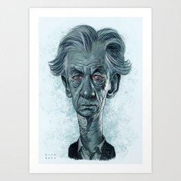 Sir Ian McKellen Art Print