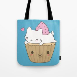 Kawaii Cute Cat Cupcake Tote Bag