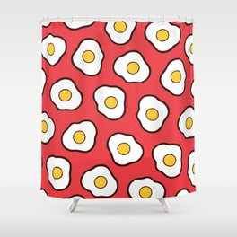 Fried Eggs Pattern Shower Curtain
