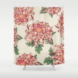 The Chrysanthemum of Pugs Shower Curtain