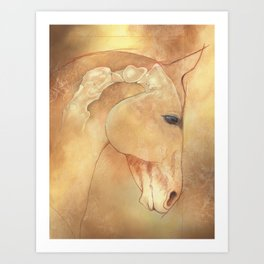 The Equine Poll Art Print