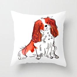 Cloe - Dog Watercolour Throw Pillow