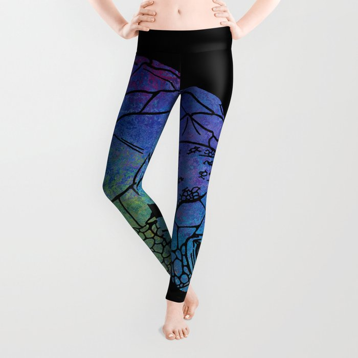 Colorful Sea Turtle I Leggings