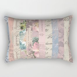 Vintage Shabby Florals Rectangular Pillow