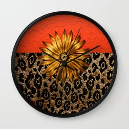Animal Print and Medallion Wall Clock