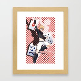 Ivy Tomcat (red) Framed Art Print