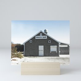 Cape Cod Beach Snack Bar Off Season Mini Art Print