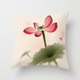 Oriental Lotus 001 Throw Pillow