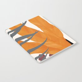 Colorful Red Leaves Notebook