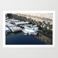 Boats - Bar Harbor, Maine Art Print
