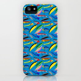 Colourful lures iPhone Case