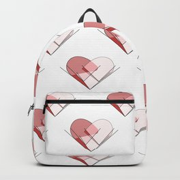 Heart of Glass Geometric Heart Pattern Design Backpack