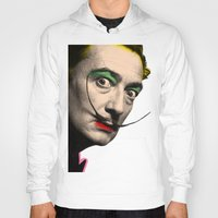 salvador dali Hoodies featuring Salvador Dali by mark ashkenazi