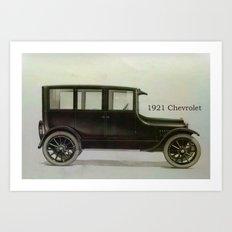 1921 Chevrolet Art Print