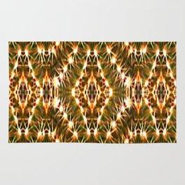 Desert Cactus Lighs on Red,Green,White,Tan,Brown Rug